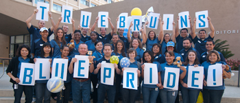 Housing Services displaying their UCLA True Bruin pride
